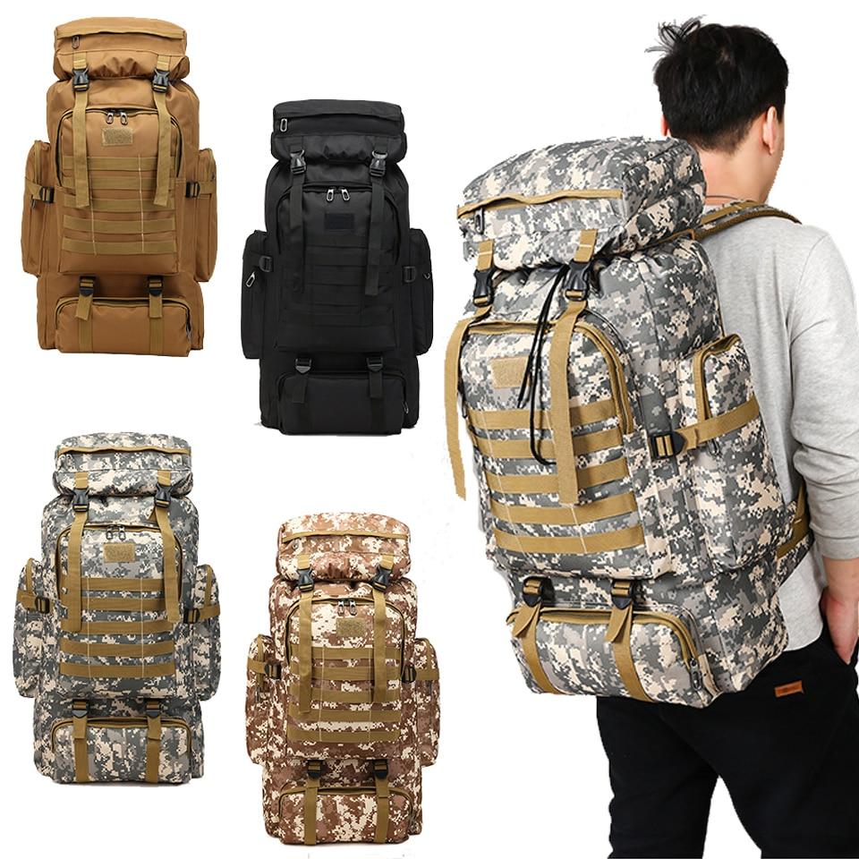 80L imperméable escalade randonnée militaire tactique sac à dos sac Camping alpinisme Sport de plein air sac à dos Molle 3 P sacs