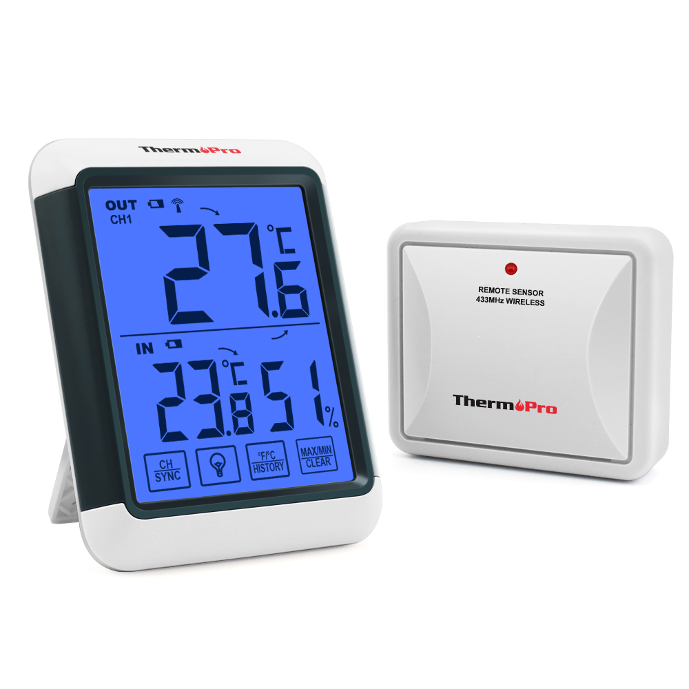 ThermoPro TP53 Hygrometer Digital Indoor Room Thermometer Temperature Humidity