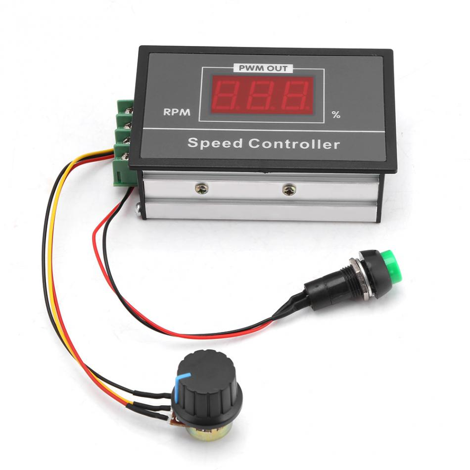 Q8-42s Motor Controller Button Governor Digital Display Percentage Tachometer Dc Motor Slow Start Slow Stop Controller Dc6-60v Motors & Parts Home Improvement