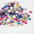 Mixed Colors SS3 SS4 SS16 SS20 Non Hotfix Rhinestone AB Color 3D Nail Art Decorations Flatback Rhinestones Glue on Nail Jewelry