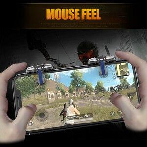 Image 5 - A8 Transparent PUBG jeu Mobile contrôleur de déclenchement joystick pugb bouton de tir L1R1 tir clé pour Iphone Android manette