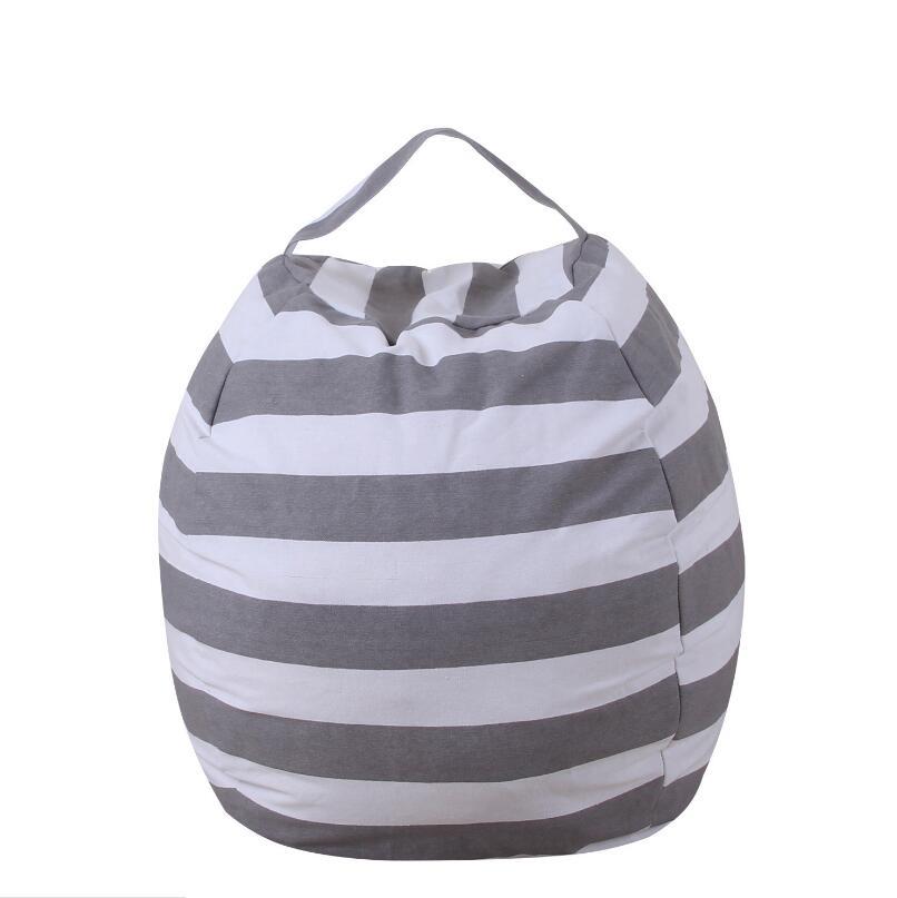 63cm Kids Storage Bean Bags Plush Toys Beanbag Chair Stuffed Animal Room Mats Portable Clothes Storage Bag LX2617