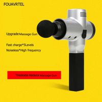 FOUAVRTEL 2018 Electronic Therapy Body Massage Gun High Frequency Vibrating Massage Gun Body Relaxing Gun Relief Pains