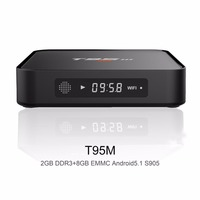 T95M Android TV Box Amlogic S905 Quad Core 64Bit Android 5 1 1080P Full HD 4K