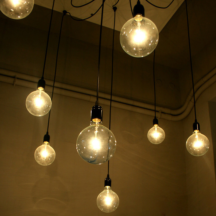 Creative electrical wire pendant light with 8 heads edison bulb creative electrical wire pendant light with 8 heads edison bulb pendant lamp vintage spider ceiling lamps for living room e27 in pendant lights from lights mozeypictures Choice Image