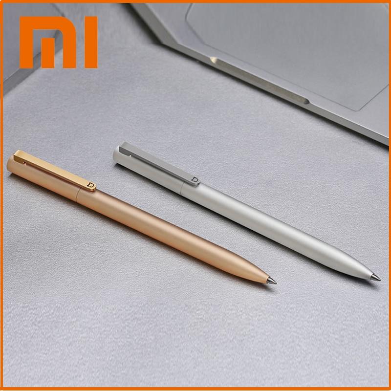 Original Xiaomi Sign Pens Mijia Metal Ballpoint Pen 0.5mm Switzerland Refill Japan Black Ink School Stationery Signing Pens