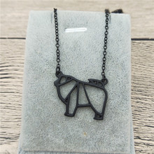 Gift Necklace Charm Jewellery Fashion Women Chow Chow Origami Female New