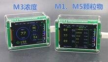 Бытовые M3 Концентрации Лазерная PM2.5 Датчик Температуры, Влажность мониторинга качества Воздуха пыль дымка PM2.5 Датчик TFT