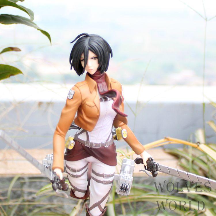 Jg Chen livraison gratuite Anime attaque sur Titan Figma Mikasa Ackerman 25 CM PVC Action Figure collection modèle jouet