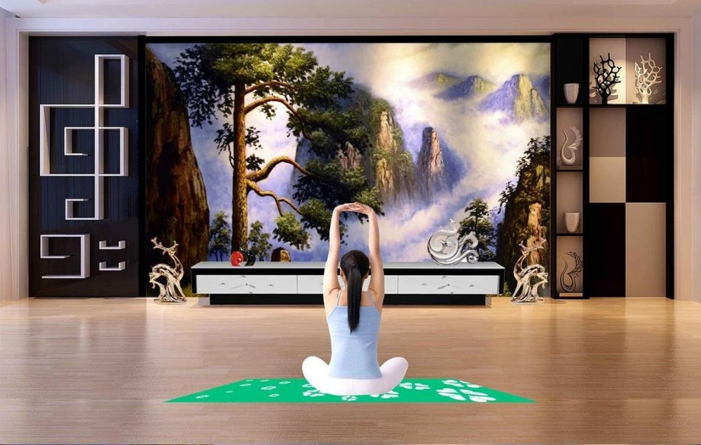 Custom wallpaper for walls 3 d photo wall mural Songhe Yannian Oil Painting TV Walls 3d nature wallpapers for living room custom wallpaper for walls 3 d photo wall mural pastoral country road tv walls 3d nature wallpapers for living room