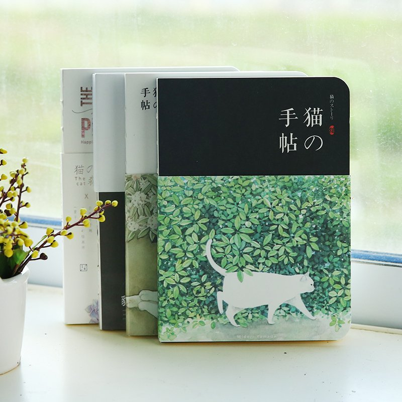 Japanese hand books Blank paper notebook stationery creative restoring cats notepad South Korea hand account book nnrts creative cloth hardcover notebook blank box notepad painting graffiti diy hand book stationery