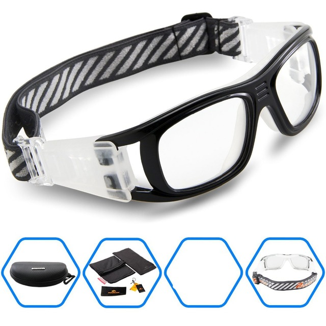 2016 Protective Men's Sports Goggles Eyewear Glasses for Adult Basketball Football Soccer Hockey Rugby Tag Dribble eyeglasses