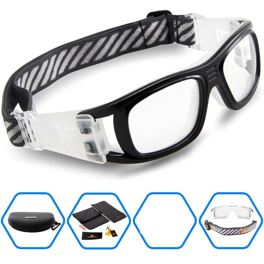 Sports frames for eyeglasses - 2016 Protective Men S Sports Goggles Eyewear Glasses For Adult Basketball Football Soccer Hockey Rugby Tag Dribble