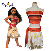 Kids Moana Costume Polynesia Princess Moana Cosplay Costume Hawaii Hula Skirt Adult Women/Child Girls Halloween Party Cosplay