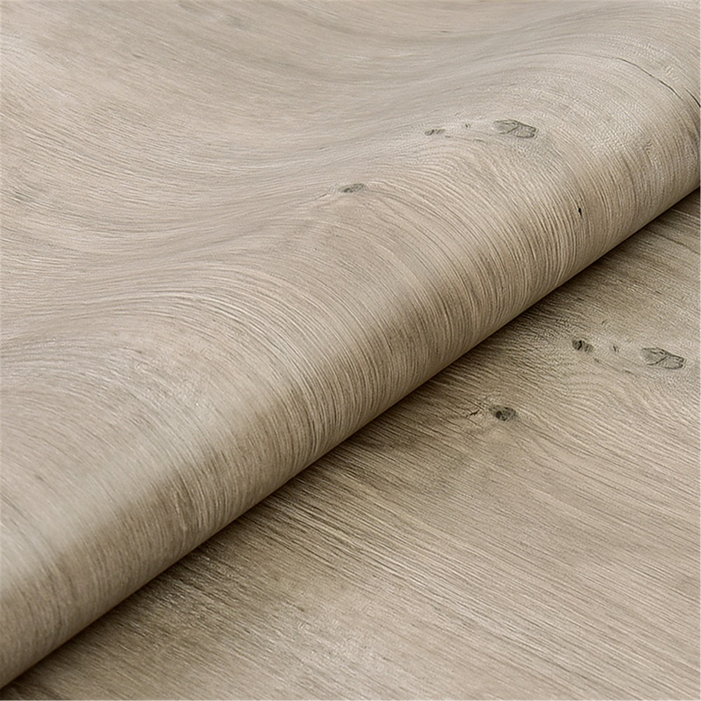 2019 PVC Self Adhesive Wallpaper Furniture Renovation Stickers Waterproof Kitchen Cabinets Wardrobe Door Wood Decorative Film