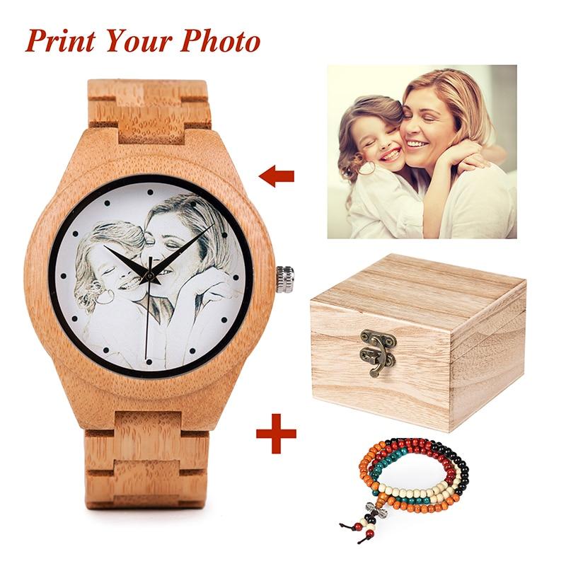 Persoonlijkheid Creatief Design Klantenfoto's UV-printen Aanpassen - Herenhorloges
