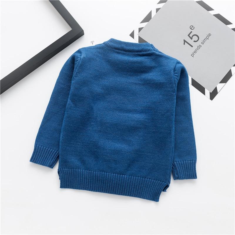 Moda uşaq kazak payız qış isti oğlanlar trikotaj tursweaters - Uşaq geyimləri - Fotoqrafiya 3