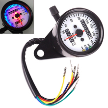 DC 12V Dual LED Backlight Night Readable Speedometer Gauge Panel Motorcycle Universal Odometer Instrument for Motorbike