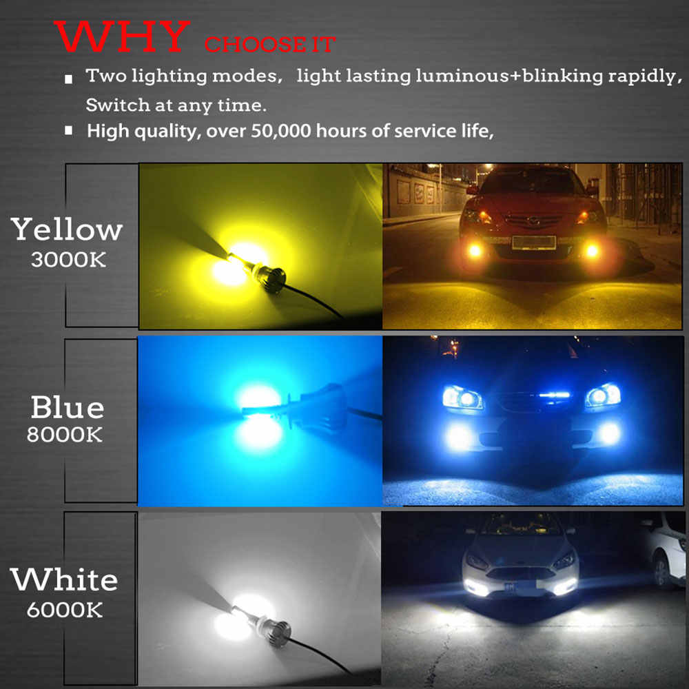 1PC Mni LED light bulbs H3 9005 9006 LED Car Headlight Bulbs Auto hi-lo beam Waterproof 40W 4800LM 6500K 12V LED Headlamp