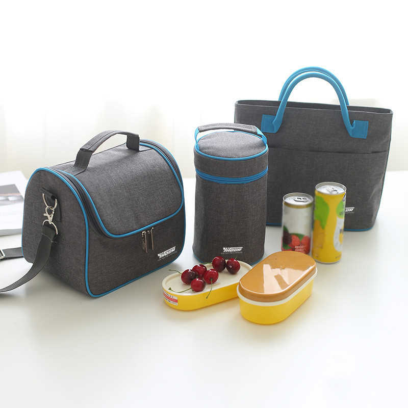 Thermal Insulation Cooler Lunch Bag Picnic Bento Box Fresh Keeping Ice Pack Food Fruit Container Storage Accessory Supply Stuff