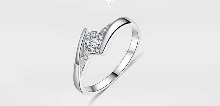 Gửi Giấy Chứng Nhận của Bạc! YINHED 100% Nguyên Chất 925 Sterling Silver Ring Set Luxury 0.5 ct CZ Diamant Nhẫn Cưới cho Phụ Nữ ZR327
