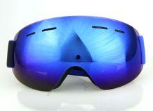 2016 new Professional Frameless ski goggles Blue strap blue lens Fashion Double anti-fog lens ski mask