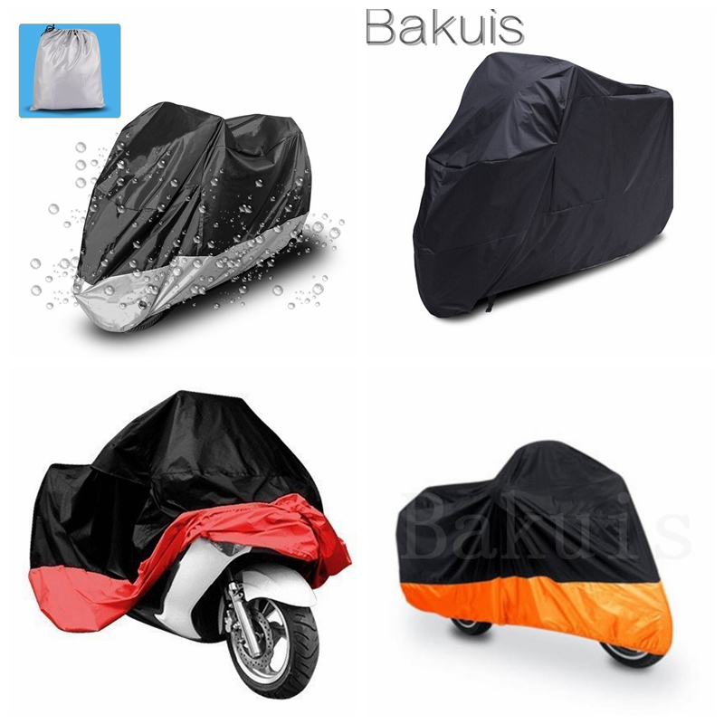 Motorcycle Dust Cover Waterproof Uv Cover For Harley Davidson Yamaha Kawasaki Universal (XXXL, Black and Silver) rsd motorcycle 5 hole beveled derby cover aluminum for harley touring flh t 2016 2017 for flhtcul and flhtkl 2015 2016 2017