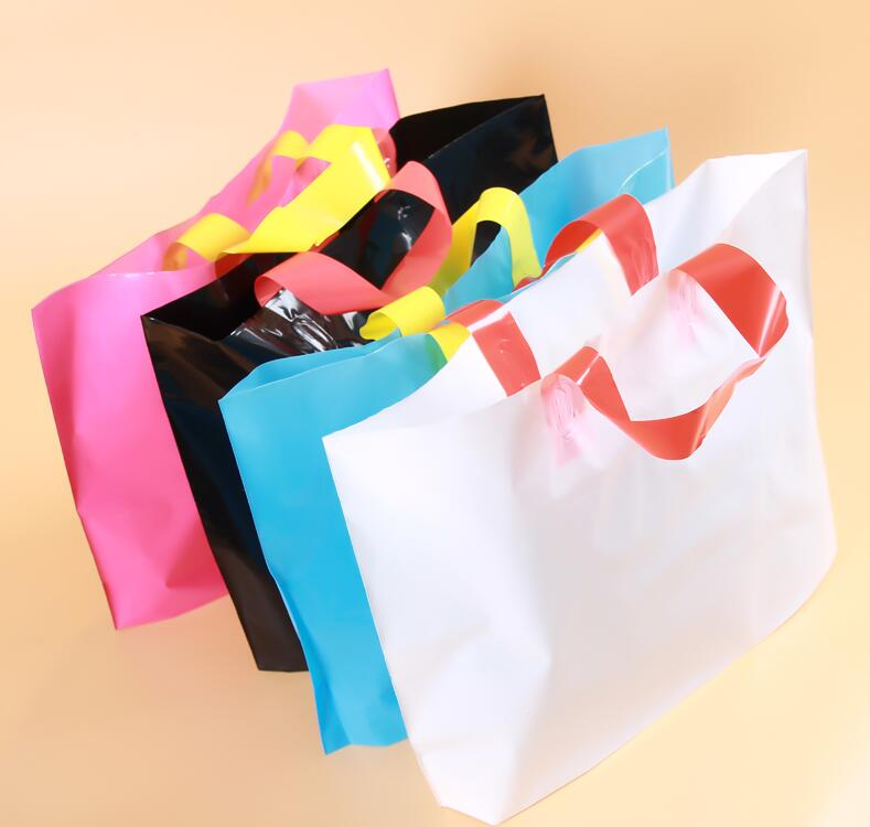 Aliexpress.com : Buy Qi 50pcs/lot Plastic Shopping Bags With ...
