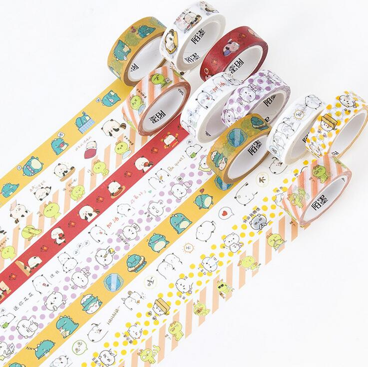 1.5CM Wide Lovely Cartoon Star Moly  Washi Tape DIY Scrapbooking Sticker Label Masking Tape School Office Supply 1 5cm wide amazing library books washi tape diy scrapbooking sticker label masking tape school office supply