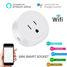 Timethinker Ewelink WiFi Smart Socket Light Switch 10A Remote Voice Control US Power Plug Work with Alexa Google Home Automation