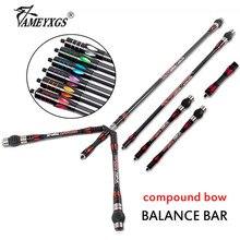 1set Compound Bow Balance Bar Archery pr633 Stabilizer Rod Bow Hunting Sports Carbon Damper Shock Absorber Shooting Accessories цены онлайн