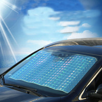 130 70cm Car Auto Front Window Sunshade Covers Sun Reflective Heated Shade Windscreen Car Covers For