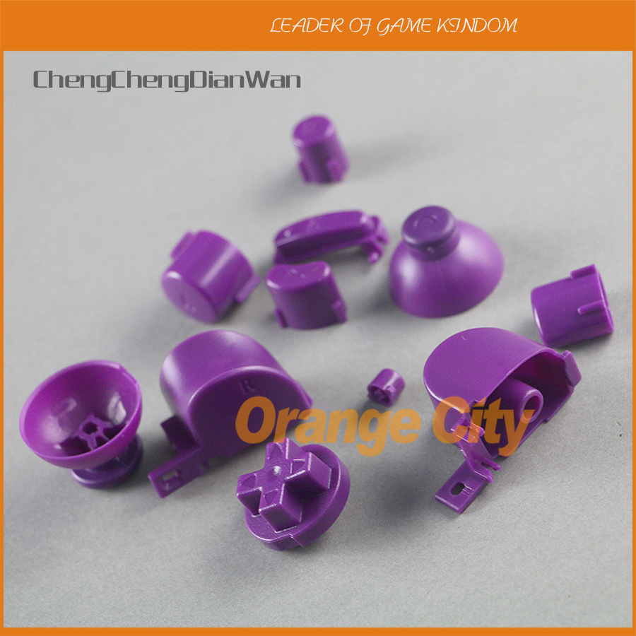 100sets Full set L R ABXY Z Keypads Buttons For GameCube Buttons Frame For NGC D