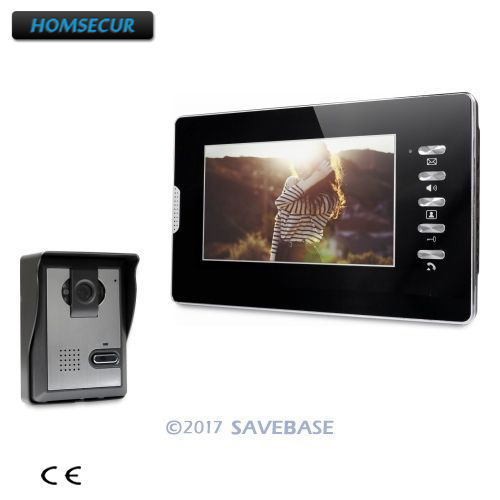 HOMSECUR 7 Video Security Door Phone with Intra-monitor Audio Intercom for Home Security