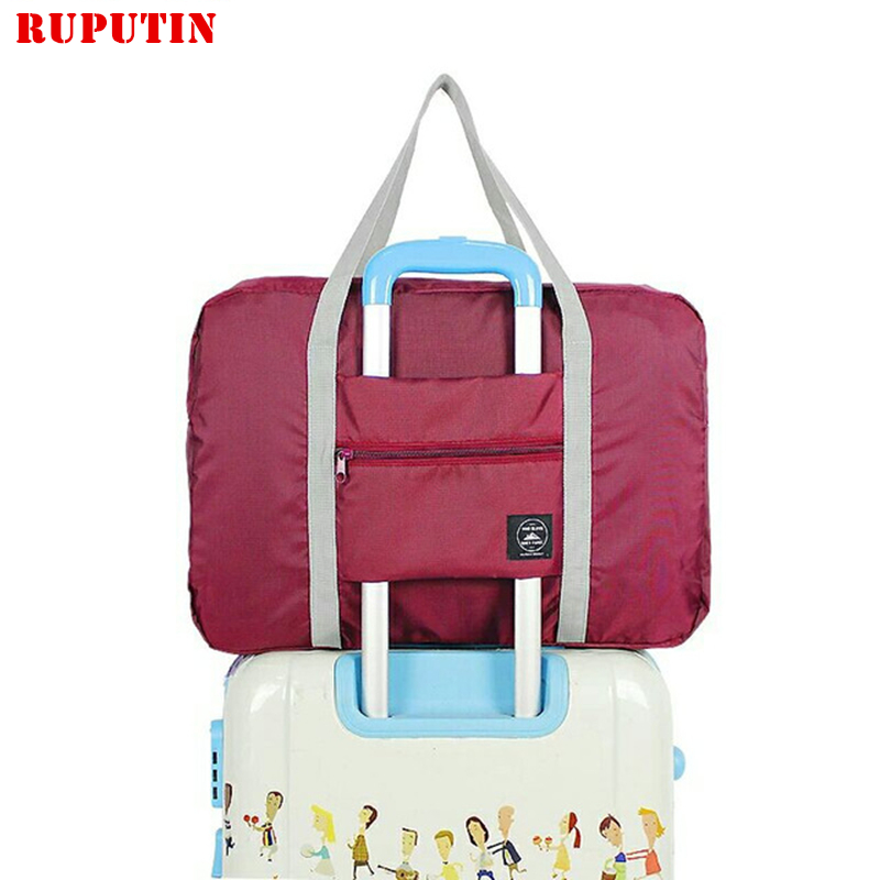 RUPUTIN Women's Travel Bags Clothes Luggage Storage Organizer Collation Pouch Cases Accessories Supplies Waterproof Folding Bags