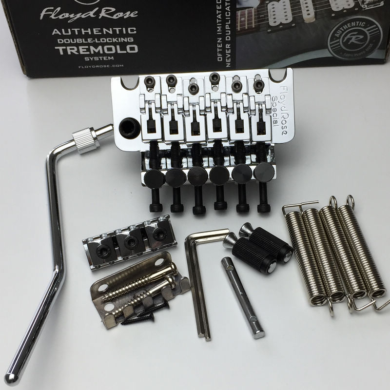 Floyd Rose Special Series Left hand FRTS1000 Tremolo System Bridge With L2 Nut Chrome new floyd rose special frs5000 tremolo black tremolo