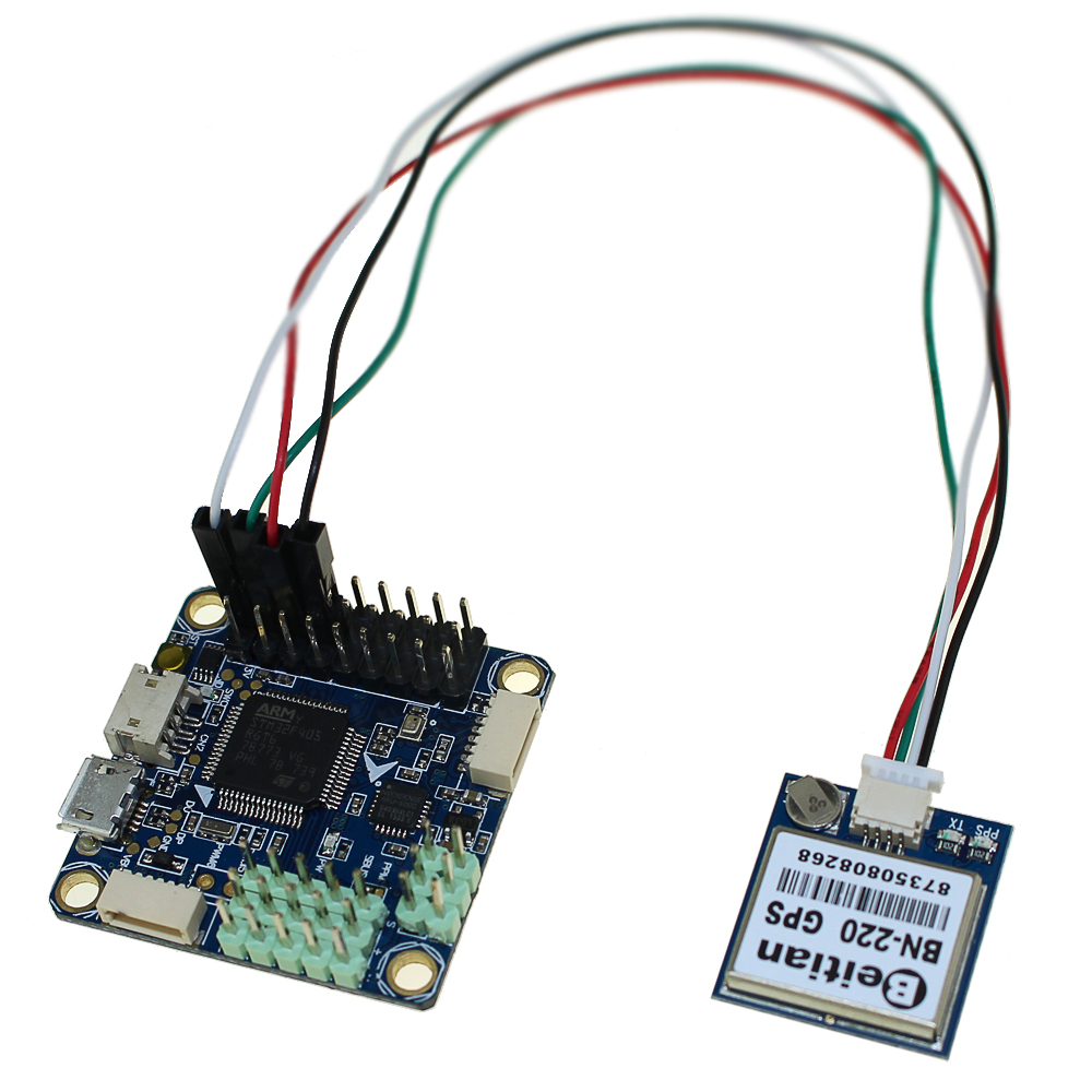 F4 V3 Flight Controller Board With BN 220 GPS Built in Barometer OSD TF Slot For