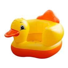 цена на Baby Inflatable Chair PVC Kids Seat Sofa Yellow Duck Bath Seats Dining Pushchair Infant Portable Play Game Mat Sofa Learn Stool