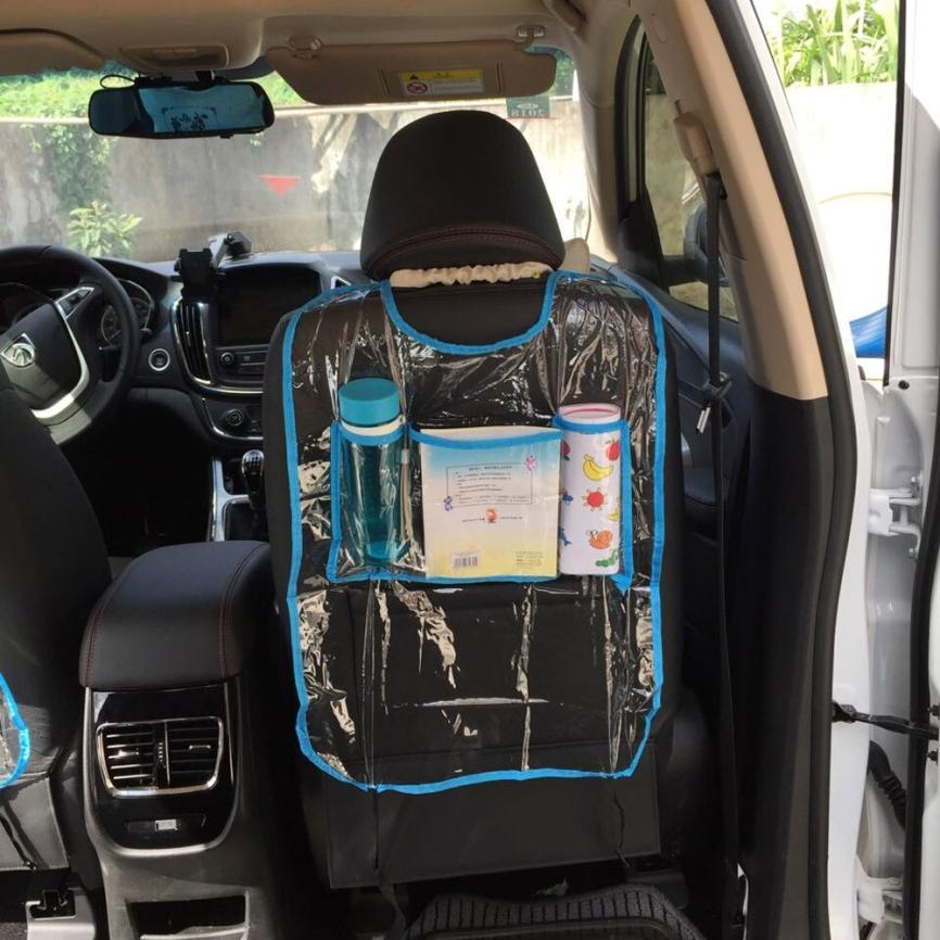 New Arrival Car Auto Seat Back Protector Cover For Children Kick Mat Storage Bag