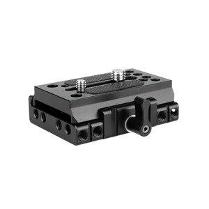 """Image 1 - NICEYRIG سريعة الإصدار بلايت ل كما ستستهدف كاميرا ترايبود اللوح الأساس كما ستستهدف السكك الحديدية DSLR 1/4 """"3/8"""" المسمار هيكل قفصي الشكل للكاميرا تزوير"""