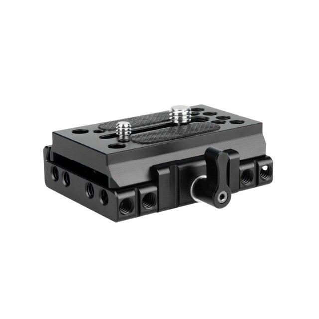 """NICEYRIG سريعة الإصدار بلايت ل كما ستستهدف كاميرا ترايبود اللوح الأساس كما ستستهدف السكك الحديدية DSLR 1/4 """"3/8"""" المسمار هيكل قفصي الشكل للكاميرا تزوير"""