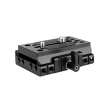 """Niceyrig montagem rápida placa para câmera manfrotto tripé placa de base manfrotto ferroviário dslr 1/4 """"3/8"""" parafuso câmera gaiola rig"""