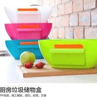 2016 Nuevo diseño de plástico cocina mini basura sobre el gabinete canasta de basura cubo de basura 1635