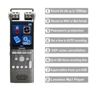 Image 2 - מקצועי קול הופעל אודיו דיגיטלי קול מקליט 16GB 8GB 32GB USB עט ללא הפסקה 100hr הקלטת PCM 1536 kbps תמיכה TF כרטיס