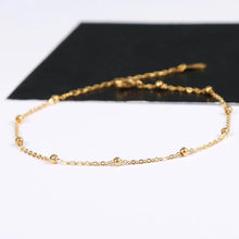 Classic Silver Gold Rose Gold Color Anklet Women Link Chains Beads Ankle Bracelet Cheville Foot Jewelry High Quality Never Fade(China)