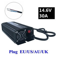 1PC best price 672W 14.6V 30A LiFePO4 charger for 4 12V series LiFePO4 battery 14.4V smart charger battery free shipping цена в Москве и Питере
