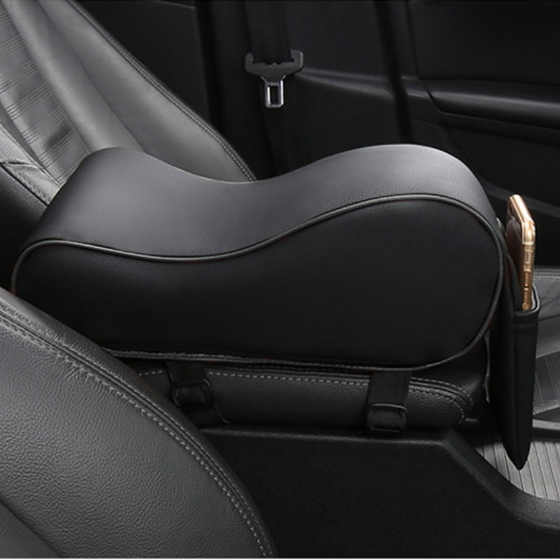 Image 2 - Autoleader PU Leather Car Armrest Pad Universal Auto Armrests Car Center Console Arm Rest Seat Memory Foam Rest Pillow Armrest-in Armrests from Automobiles & Motorcycles