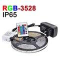 IP65 Waterproof RGB LED Strip Light 60LEDs/m 5M/lot 3528 SMD DC 12V Flexible LED Light With 24Key IR Remote Home Christmas Lamps