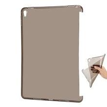 Clear tpu funda de silicona protectora para el ipad de apple pro 10.5 socio elegante de la cubierta suave flexible inferior volver caso de la piel de shell