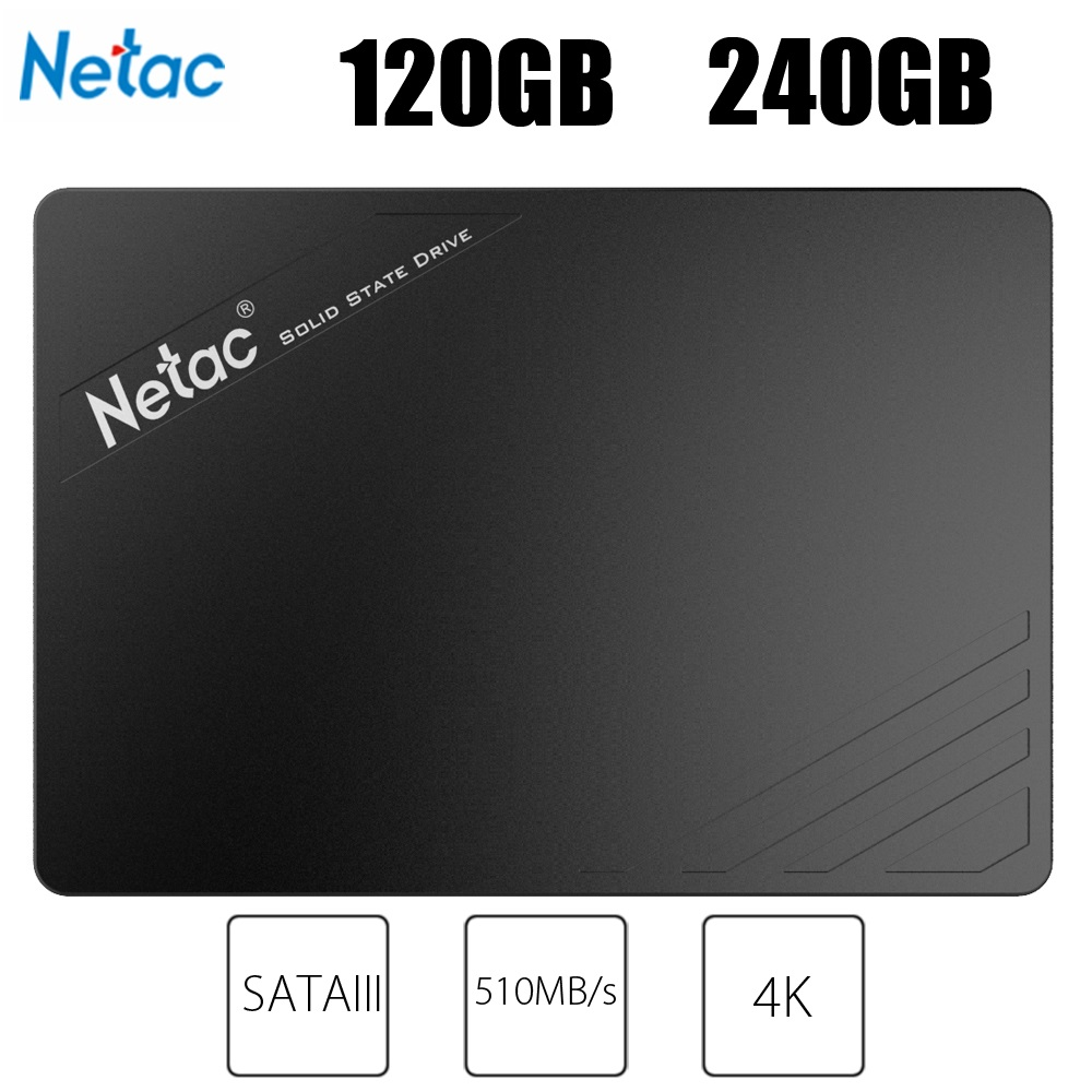 Netac N530S 120GB 240GB SATAIII SSD 2.5 Inch SATA 6Gb/S Interface Internal Solid State Disk For Desktop Laptop HD Disk Storage eaget s606 2 5inch certified ssd 120gb sata3 0 interface ssd to usb 3 0 unique internal solid state disk high speed ssd